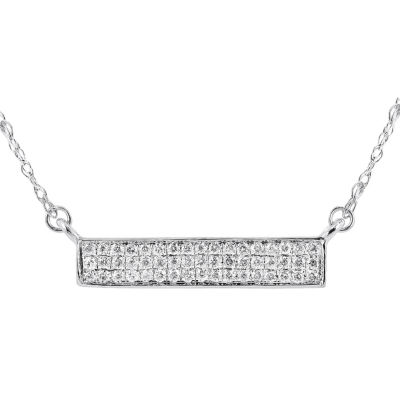 1/10 Diamond 14K White Gold Necklace