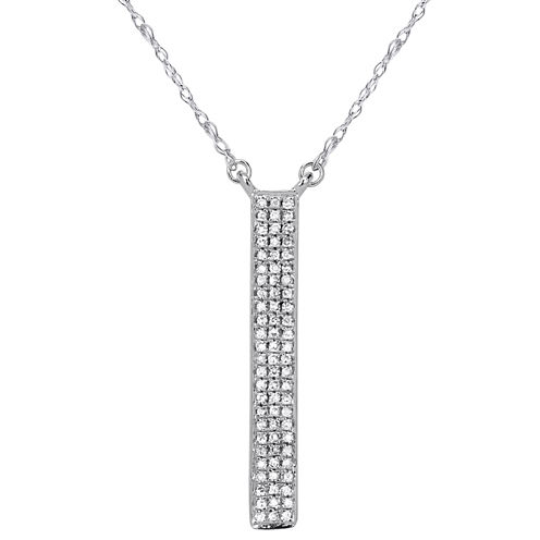 1/10 Diamond 14K White Gold Necklace 1