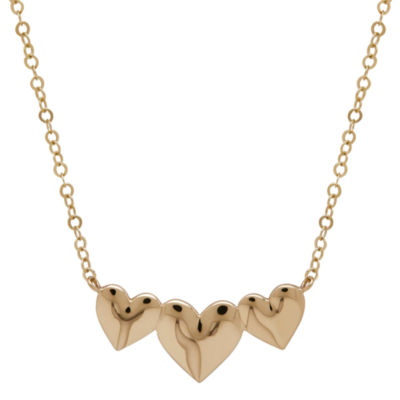 Infinite Gold™ 14K Yellow Gold Triple Heart Necklace