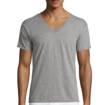 Hanes Men's ComfortBlend® FreshIQ™ V-Neck Undershirt 4-Pack