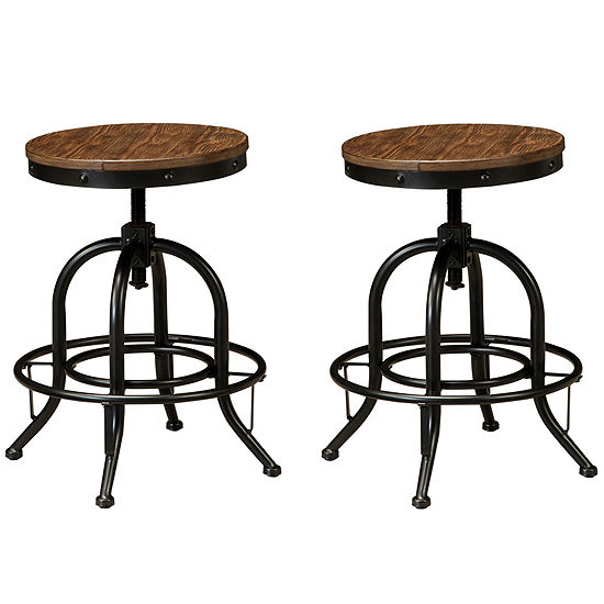 Save 40% on Signature Design by Ashley Pinnadel Set of 2 Swivel Barstools
