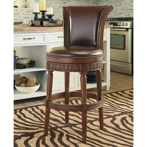 Signature Design by Ashley® North Shore Upholstered Swivel Bar Stool