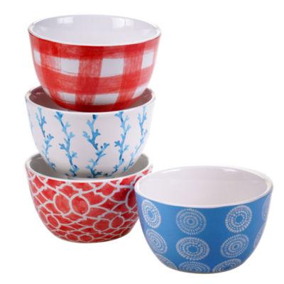 Certified International Beach House Kitchen Set of 4 Ice Cream Bowls