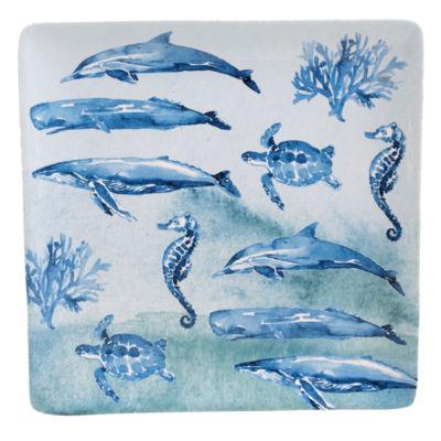 Certified International Sea Life Square Platter