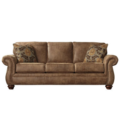 brown sofa and loveseat ashley signature design by ashley kennesaw sofa jcpenney