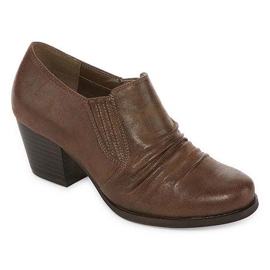 Yuu Womens Ranchen Booties Block Heel