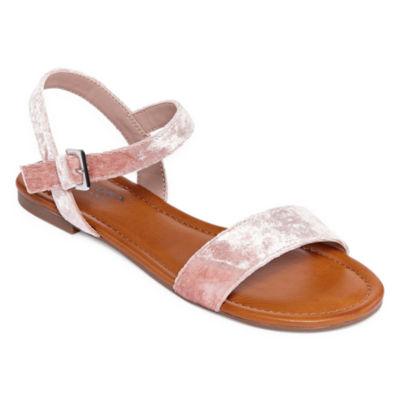 Arizona Womens Bleaker Ankle Strap Flat Sandals