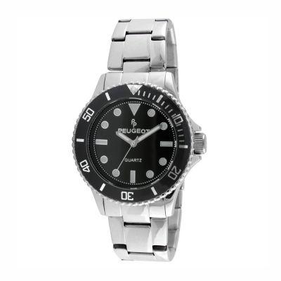 Peugeot Mens Silver Tone Bracelet Watch-1023s