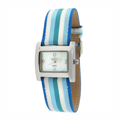 Peugeot Womens Blue Strap Watch-3016bl