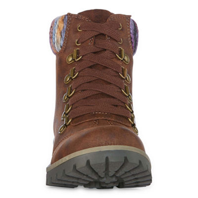 St. John's Bay Womens Pickens Combat Boots Lace-up