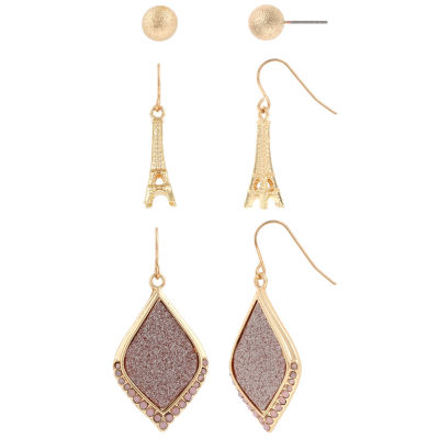 Decree 3 Pair Pink Earring Sets
