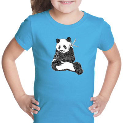Los Angeles Pop Art Endangered Species Short Sleeve Girls Graphic T-Shirt