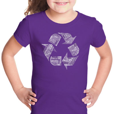 Los Angeles Pop Art 86 Recyclable Products Short Sleeve Graphic T-Shirt Girls
