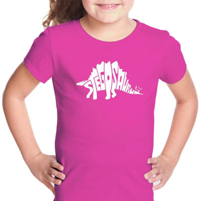 Los Angeles Pop Art Stegosaurus Short Sleeve Graphic T-Shirt Girls