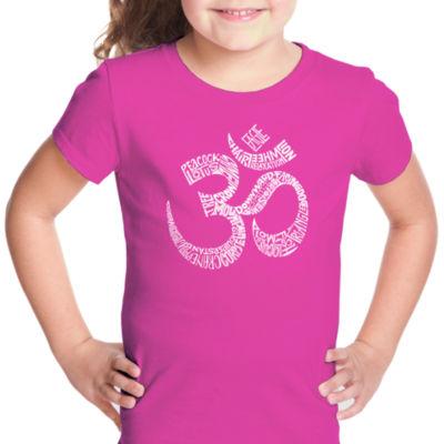 Los Angeles Pop Art Poses Om Short Sleeve Girls Graphic T-Shirt