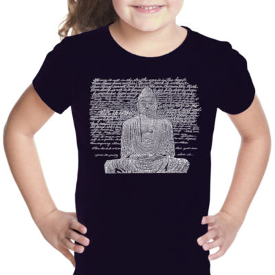Los Angeles Pop Art Zen Buddha Short Sleeve GirlsGraphic T-Shirt