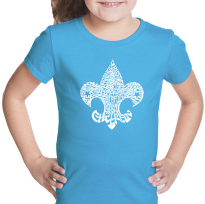 Los Angeles Pop Art 12 Points Of Scout Law Short Sleeve Girls Graphic T-Shirt