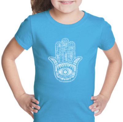 Los Angeles Pop Art Hamsa Short Sleeve Girls Graphic T-Shirt