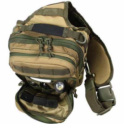 Red Rock Outdoor Gear Rover Sling Pack - Coyote w/Olive Drab Webbing