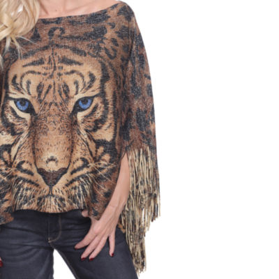 White Mark Tiger Poncho