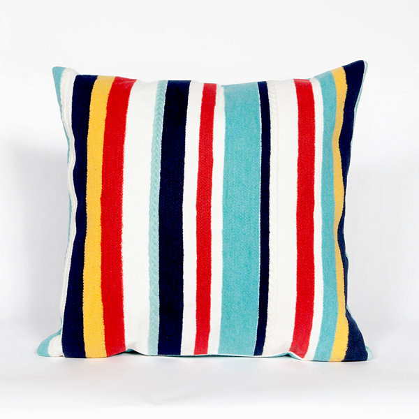 Liora Manne Visions Iii Riviera Strp Square Outdoor Pillow