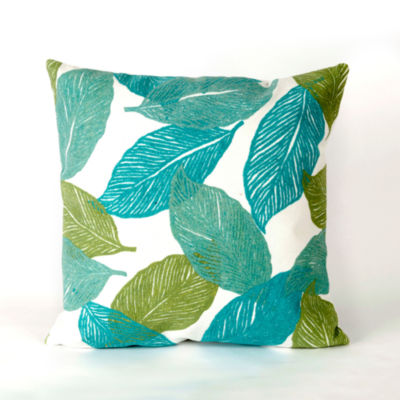 Liora Manne Visions I Mystic Leaf Square Outdoor Pillow