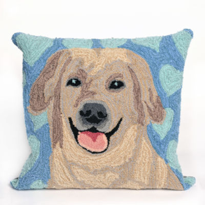 Liora Manne Frontporch Puppy Love Square Outdoor Pillow