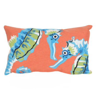 Liora Manne Visions Iii Seashorse Square Outdoor Pillow