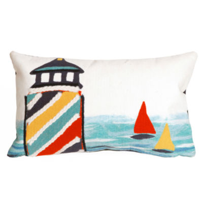 Liora Manne Visions Ii Lighthouse Rectangular Outdoor Pillow