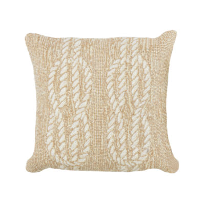 Liora Manne Frontporch Ropes Square Outdoor Pillow