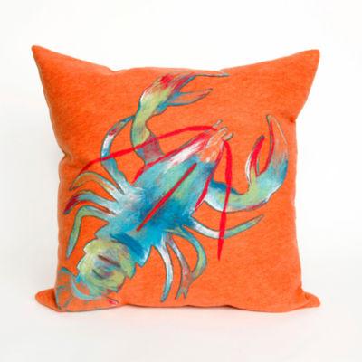 Liora Manne Visions Ii Lobster Rectangular Outdoor Pillow