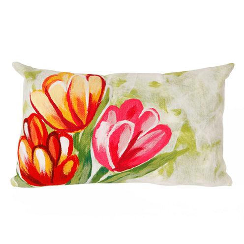Liora Manne Visions Iii Tulips Rectangular Outdoor Pillow