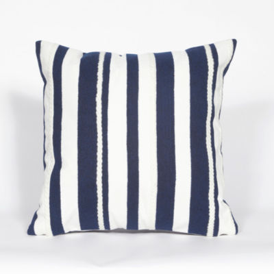 Liora Manne Visions Ii Marina Stripe Rectangular Outdoor Pillow