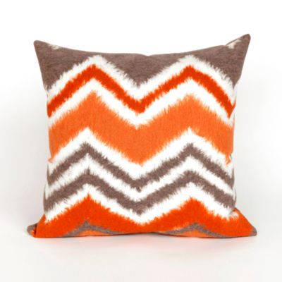 Liora Manne Visions Iii Zigzag Ikat Square Outdoor Pillow