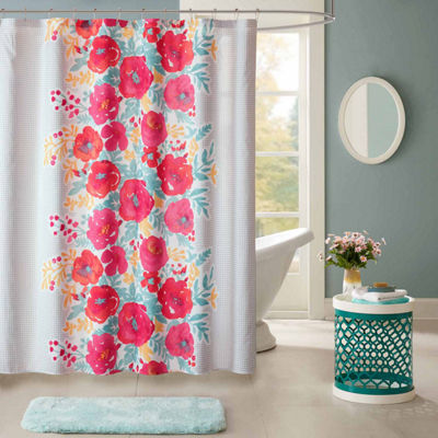Intelligent Design Mina Printed Shower Curtain