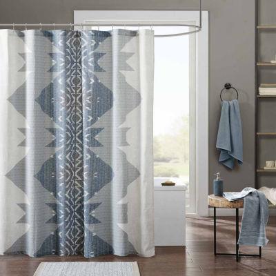 INK+IVY Nova Cotton Shower Curtain