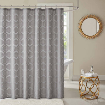 Madison Park Cabot Sheer Jacquard Shower Curtain