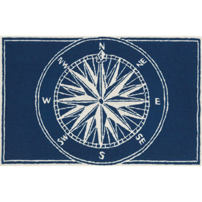 Liora Manne Frontporch Compass Hand Tufted Rectangular Rugs