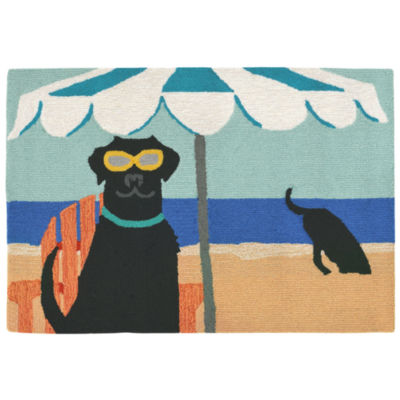 Liora Manne Frontporch Dig In The Beach Hand Tufted Rectangular Indoor/Outdoor Accent Rug