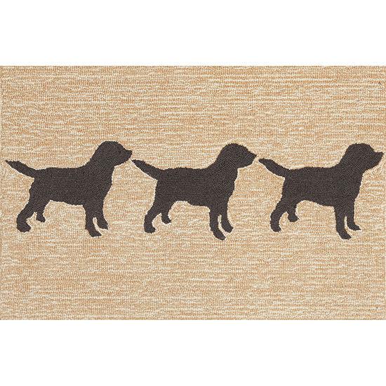 Liora Manne Frontporch Doggies Hand Tufted Rectangular Indoor/Outdoor Rugs