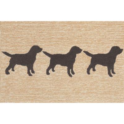 Liora Manne Frontporch Doggies Hand Tufted Rectangular Indoor/Outdoor Accent Rug