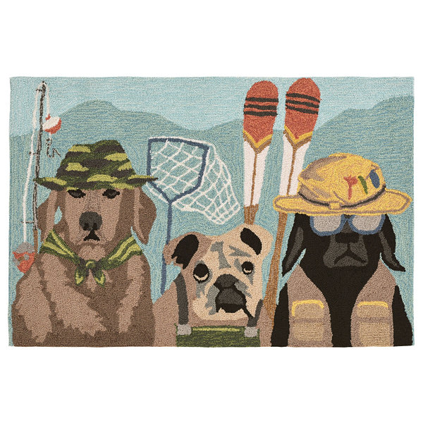 Liora Manne Frontporch Fishing Patrol Hand Tufted Rectangular Rugs
