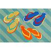 Liora Manne Frontporch Flip Flops Hand Tufted Rectangular Rugs