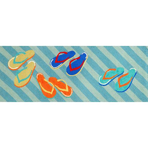 Liora Manne Frontporch Flip Flops Hand Tufted Rectangular Runner