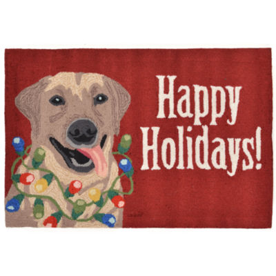 Liora Manne Frontporch Happy Holidays Hand Tufted Rectangular Rugs