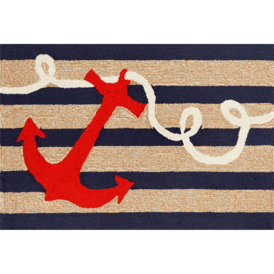 Liora Manne Frontporch Anchor Hand Tufted Rectangular Rugs