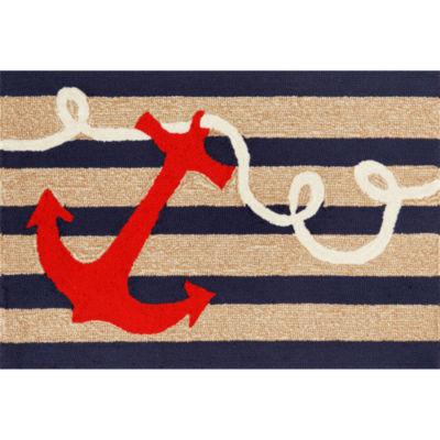 Liora Manne Frontporch Anchor Hand Tufted Rectangular Indoor/Outdoor Accent Rug