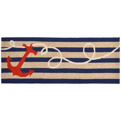 Liora Manne Frontporch Anchor Hand Tufted Rectangular Runner