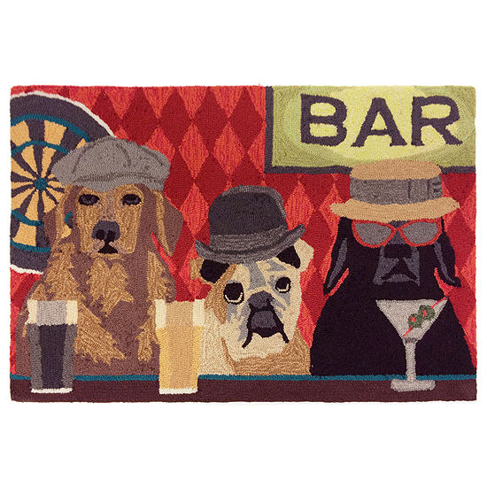 Liora Manne Frontporch Bar Patrol Hand Tufted Rectangular Indoor Outdoor Rugs