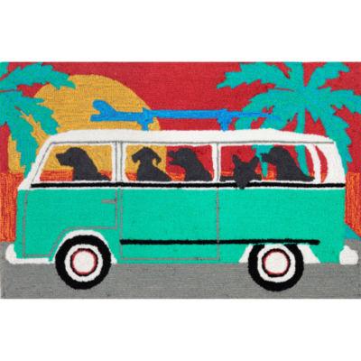 Liora Manne Frontporch Beach Trip Hand Tufted Rectangular Rugs